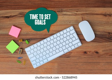 Time To Set Goals, Business Concept