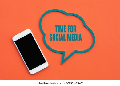Time For Social Media, Business Concept