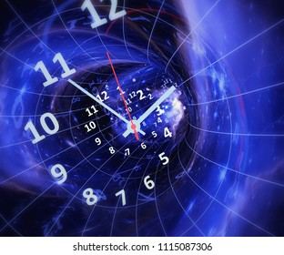 Time in space. Elements of this image furnished by NASA. 3d illustration