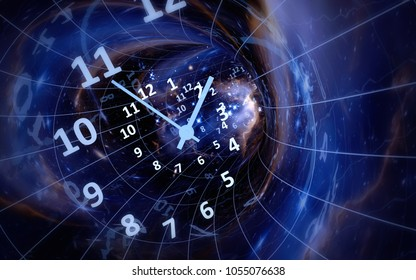 Time, space, infinity. Elements of this image furnished by NASA. 3d illustration
