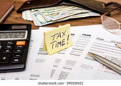 Time for taxes with money