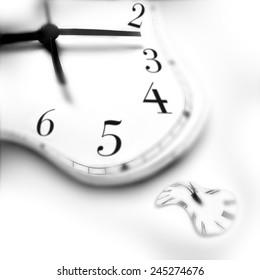 TIME WARP - A conceptual image of warped clocks