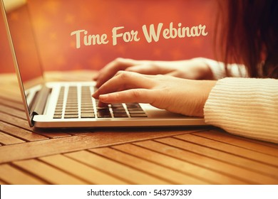 Time For Webinar, Business Concept