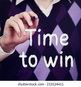 Time to win. Business concept