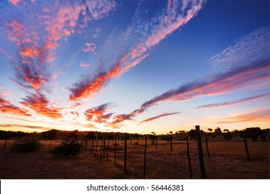 Timelapsed African sunset with cloud formations taken in Kgalagadi