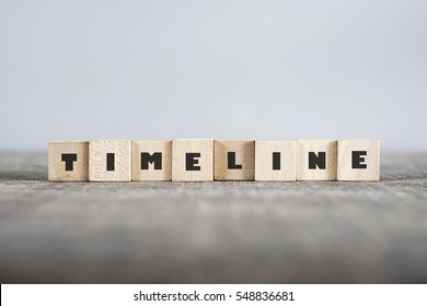 TIMELINE word made with building blocks