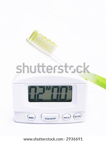 timer set two minutes green handled stock photo edit now 2936691
