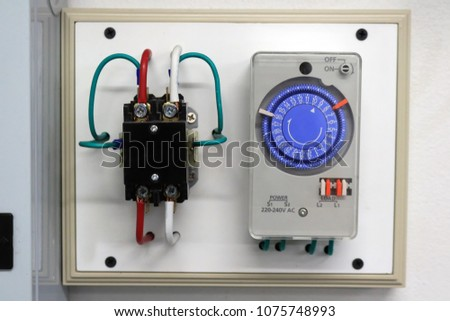 Awe Inspiring Timer Switch Wiring Singlepole Switch Set Stock Photo Edit Now Wiring Cloud Xeiraioscosaoduqqnet