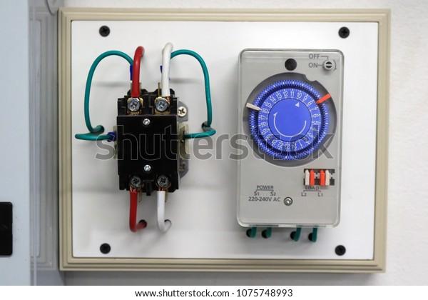 Timer Switch Wiring Singlepole Switch Set Stock Photo Edit Now