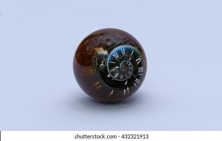 Time's Eye. 3D high resolution concept render.