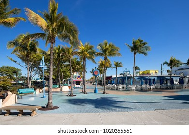 Times Square at Fort Myers Beach, Florida, USA