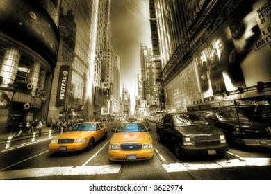 Times Square - Manhattan - sepia
