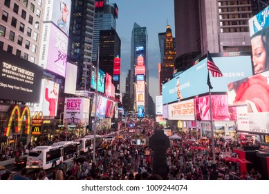 Times Square at New York City, NY, USA on the 1st of August, 2017