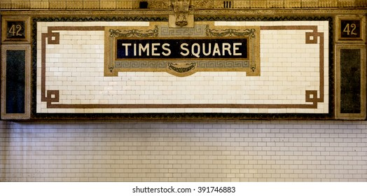 Times Square - New York city subway sign