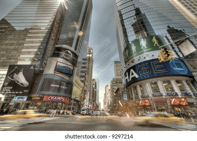 The Times Square in New York City