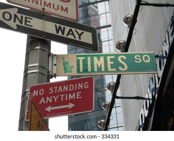 Times Square street sign, New York City