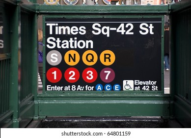 Times Square subway station in New York City