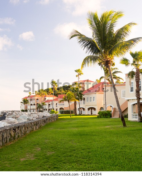 Timeshare building and apartment condo hotel in Sint Maarten St Martin Caribbean