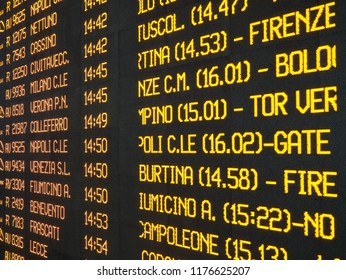 Timetable board display technology led railway station