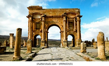 """Timgad or Thamugadi, nicknamed the """"Pompeii of North Africa"""" is an ancient city located in Algeria"""