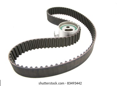 timing belt isolated (with clipping path) tension pulley