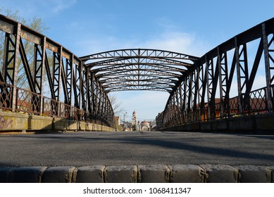 Timisoara city Romania metal bridge landmark architecture