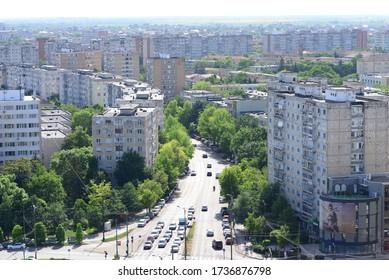 TIMISOARA, ROMANIA - 05.13.2020: calea circumvalatiunii street bird eye view