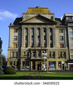 Timisoara, Romania - 11.11.2015: Chamber of Commerce palace Landmark Architecture