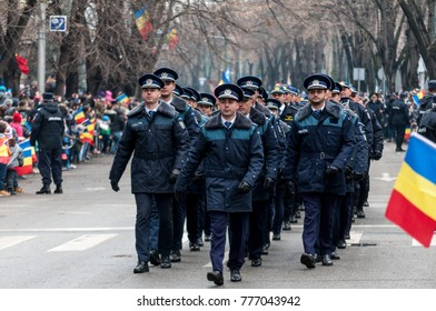 TIMISOARA, ROMANIA - DECEMBER 1, 2017: National Day parade in Romania