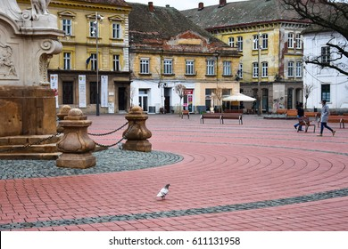 Timisoara, Romania. February 06, 2017. Liberty's Square.