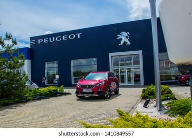 Timisoara, Romania - May 29 2019: Peugeot cars photoshooting