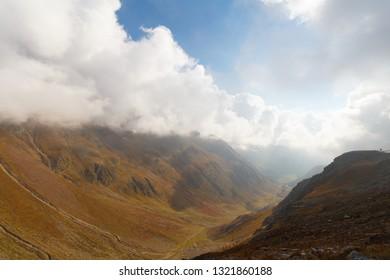Timmelsjoch Pass in Italy in Summer