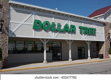 TIMONIUM, MARYLAND - APRIL 12, 2016: Dollar Tree Store Front Entrance