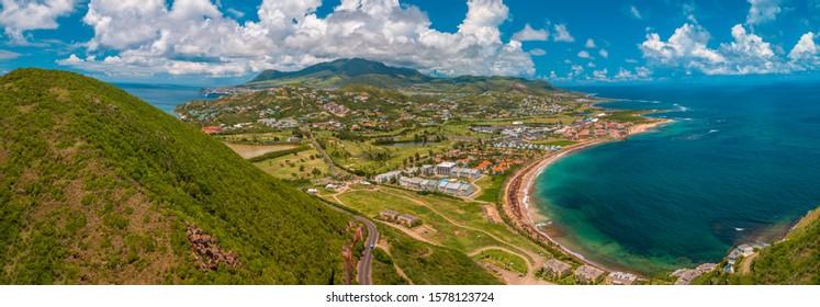 Timothy Hill, where the Atlantic Ocean meets the Caribbean Sea, St Kitts & Nevis