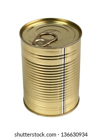 Tin can. Isolated with clipping path.