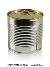 tin can isolated on a white background in the Studio