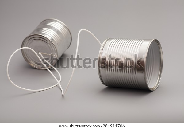 tin can phone.communication concept