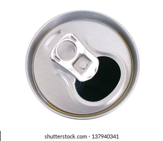 Tin can with a straw