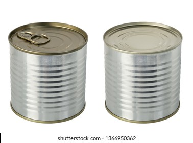 tin cans isolate on white