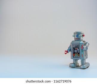 Tin Clockwork Robot background