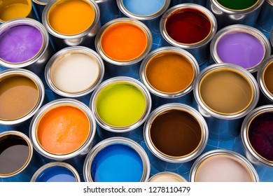 Tin metal cans with color paint