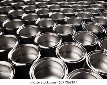 Tin metal cans, Painting background