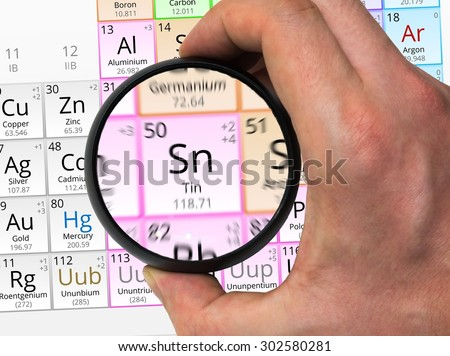Tin Symbol Sn Element Periodic Table Stock Photo Edit Now