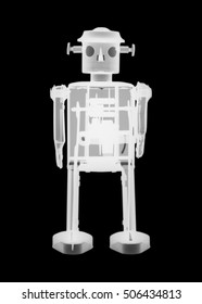Tin toy robot X-ray.