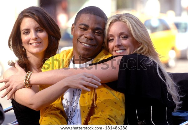 Tina Fey, Tracy Morgan and Jane Krakowski on location for Entetainment Weekly Photoshoot to promote 30 ROCK, Meatpacking District, New York, August 11, 2007