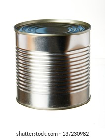Tincan isolated on white background