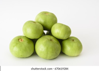 Tinda or Indian squash on a white background