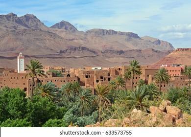 Tinerhir (Tinghir), palm oasis, Marocco