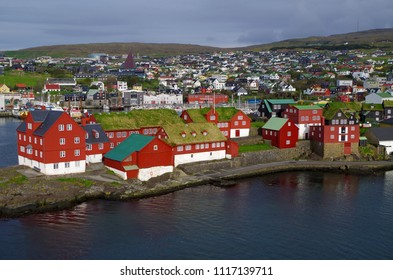 Tinganes, the historic location of the Faroese government in Torshavn, the Faroe Islands