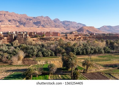 Tinghir Morocco Skyline with Farmland